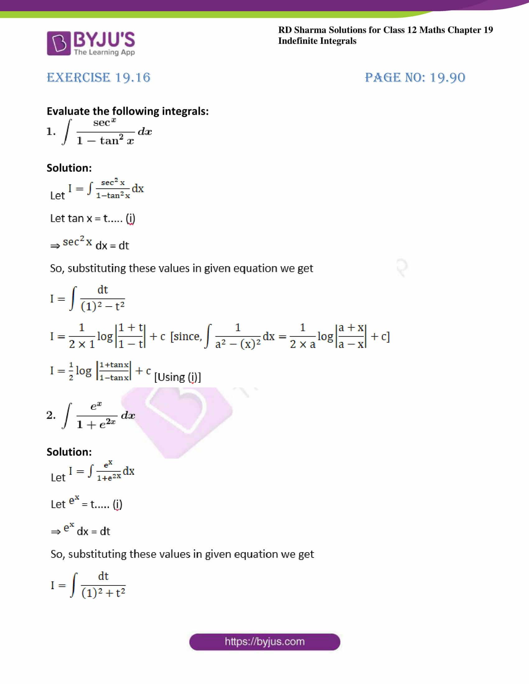 rd sharma class 12 maths sol chap 19 ex 16 1