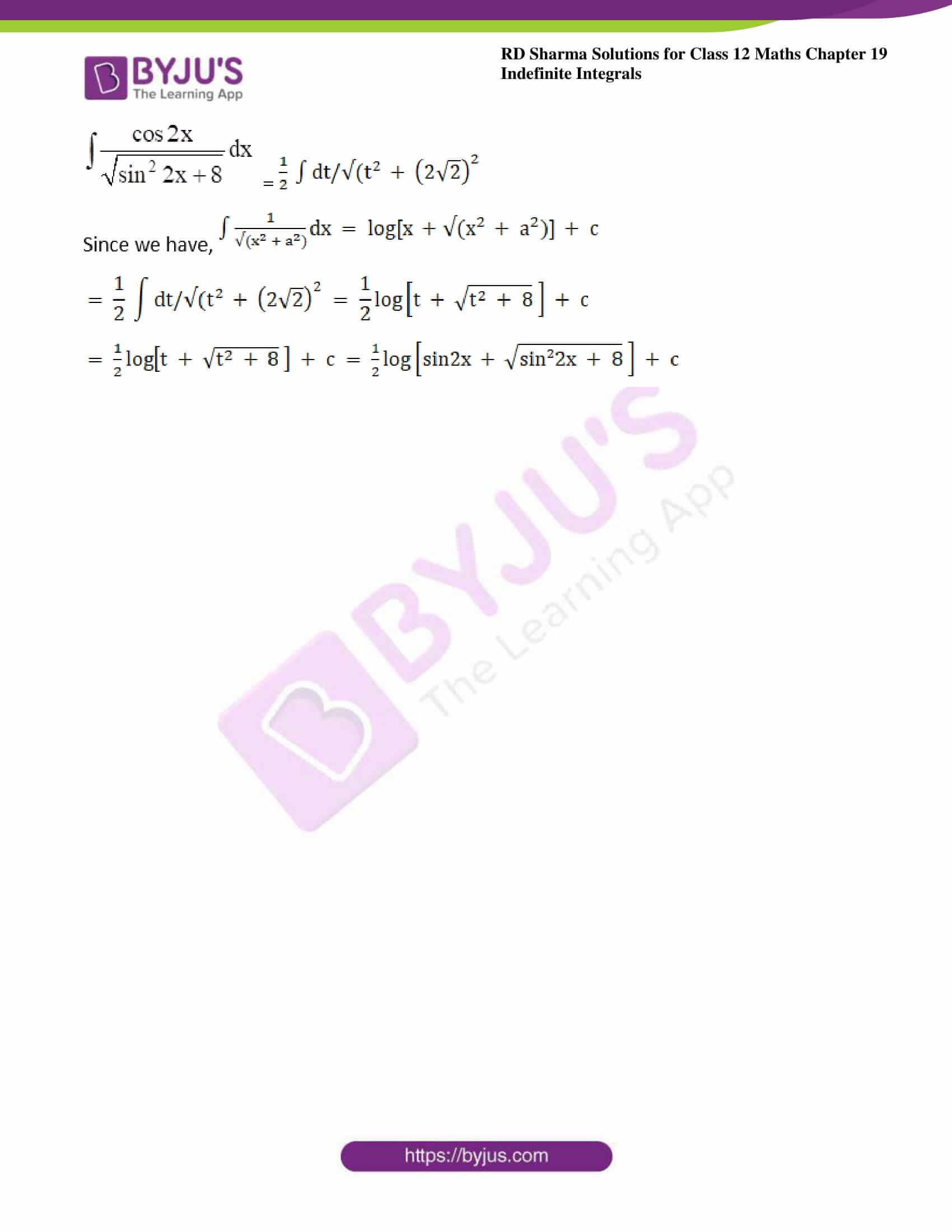 rd sharma class 12 maths sol chap 19 ex 18 7