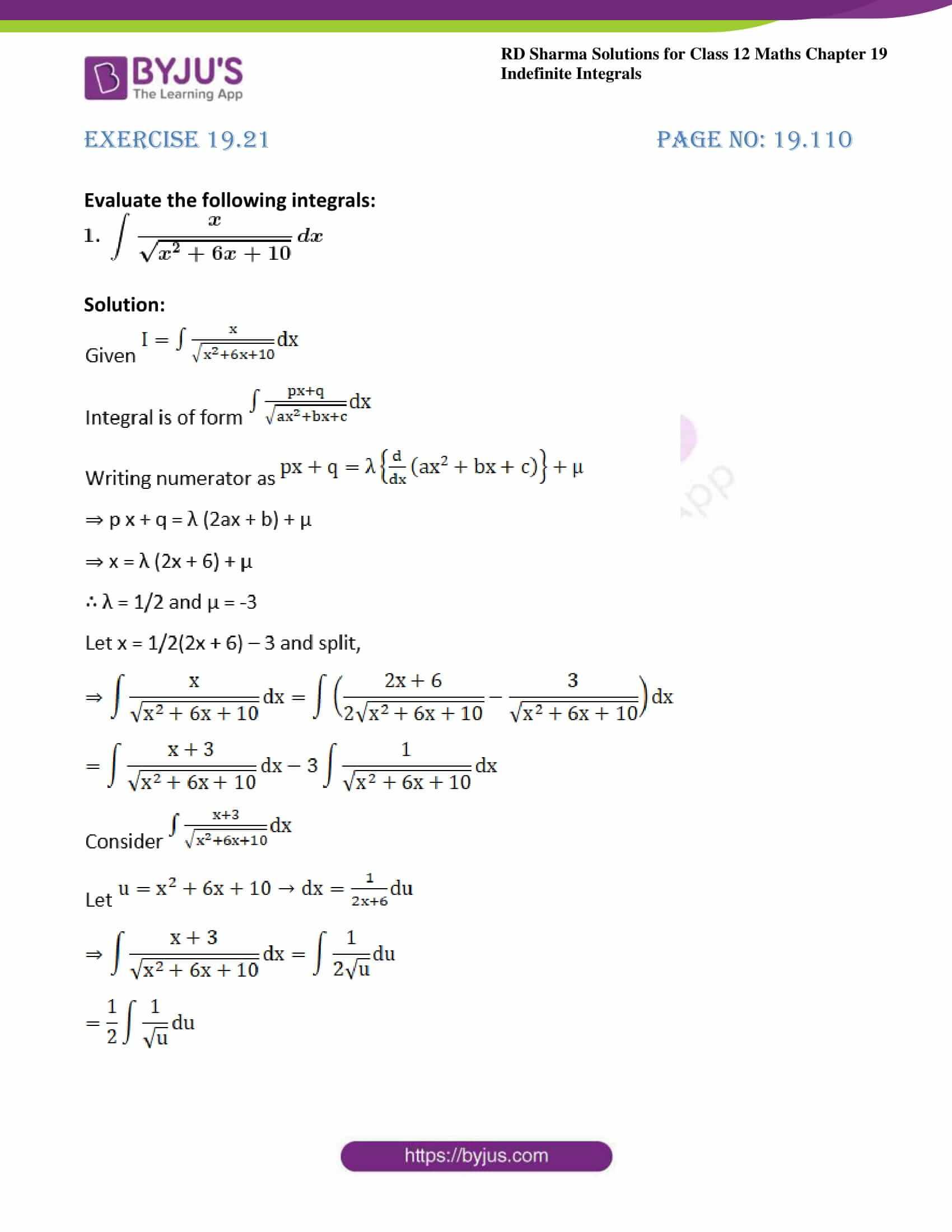 rd sharma class 12 maths sol chap 19 ex 21 1