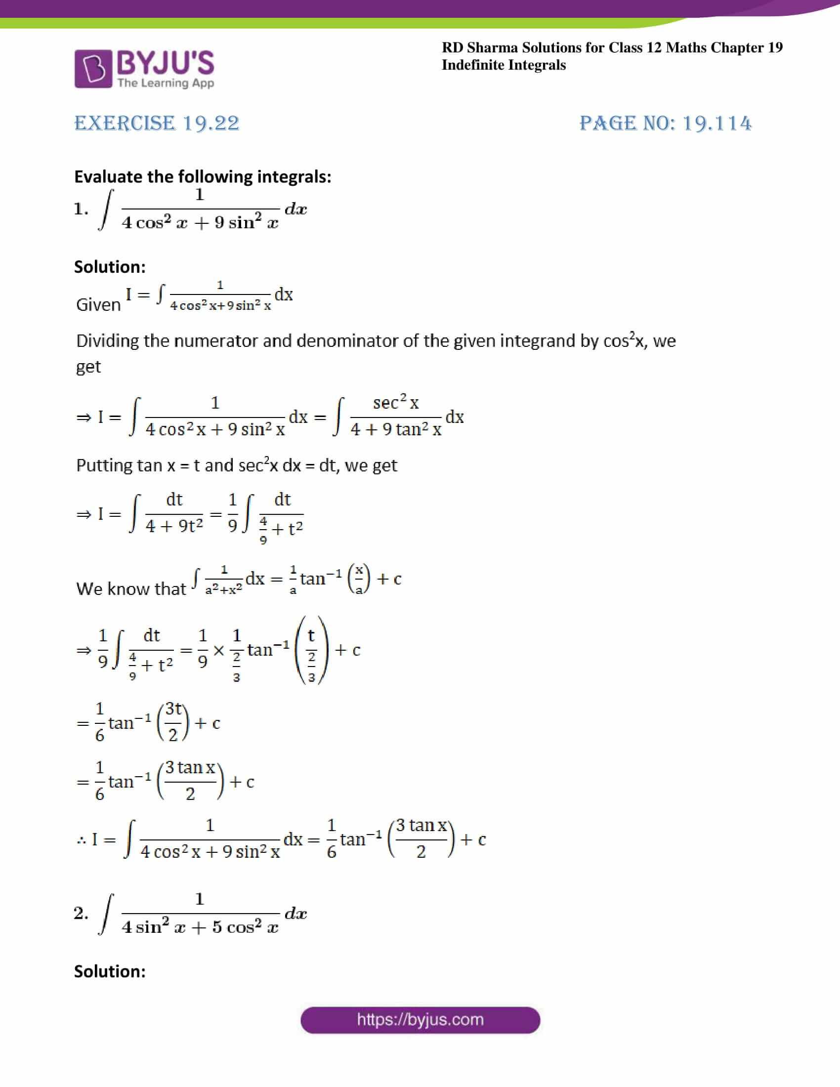 rd sharma class 12 maths sol chap 19 ex 22 1
