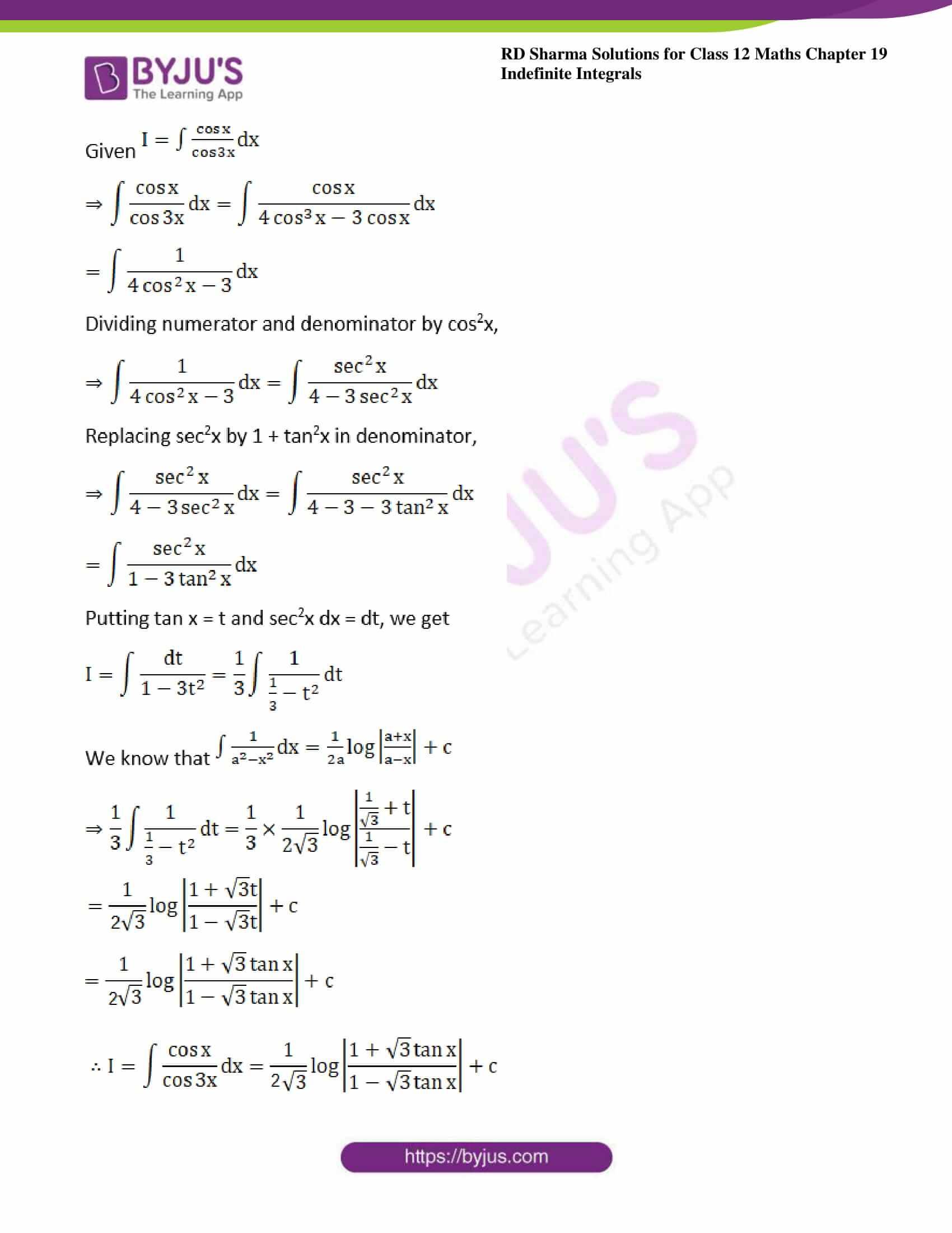 rd sharma class 12 maths sol chap 19 ex 22 4