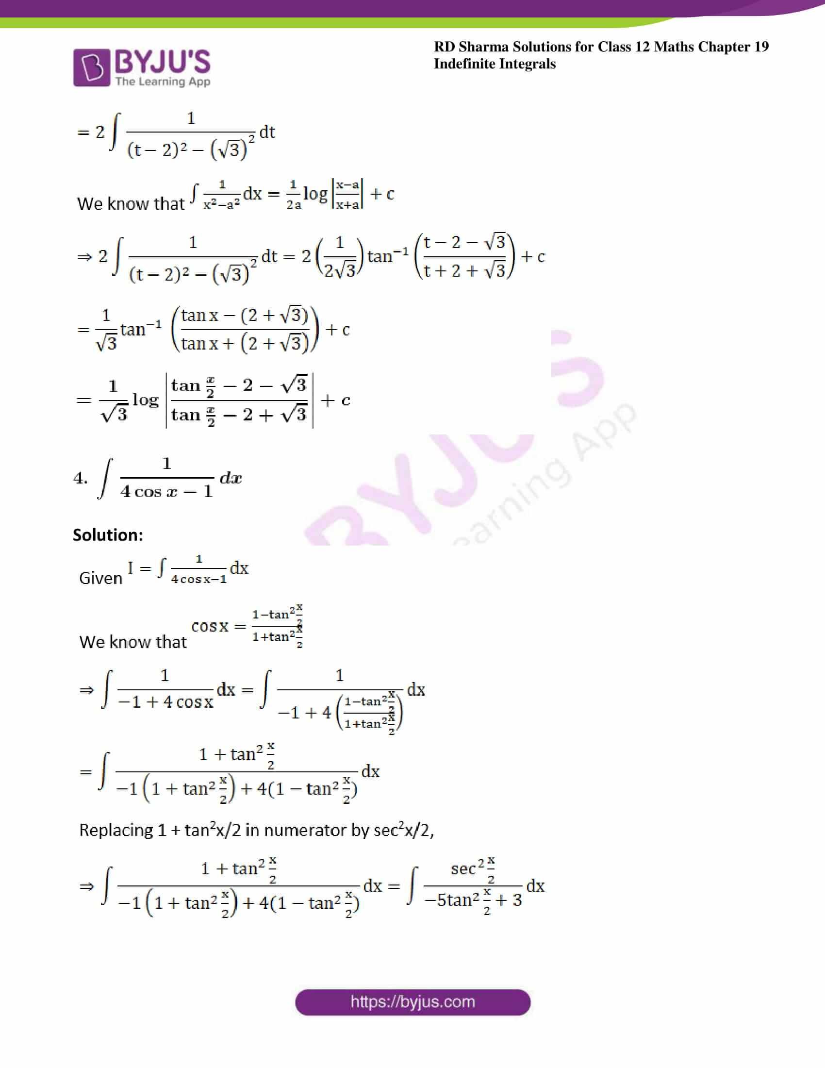 rd sharma class 12 maths sol chap 19 ex 23 4