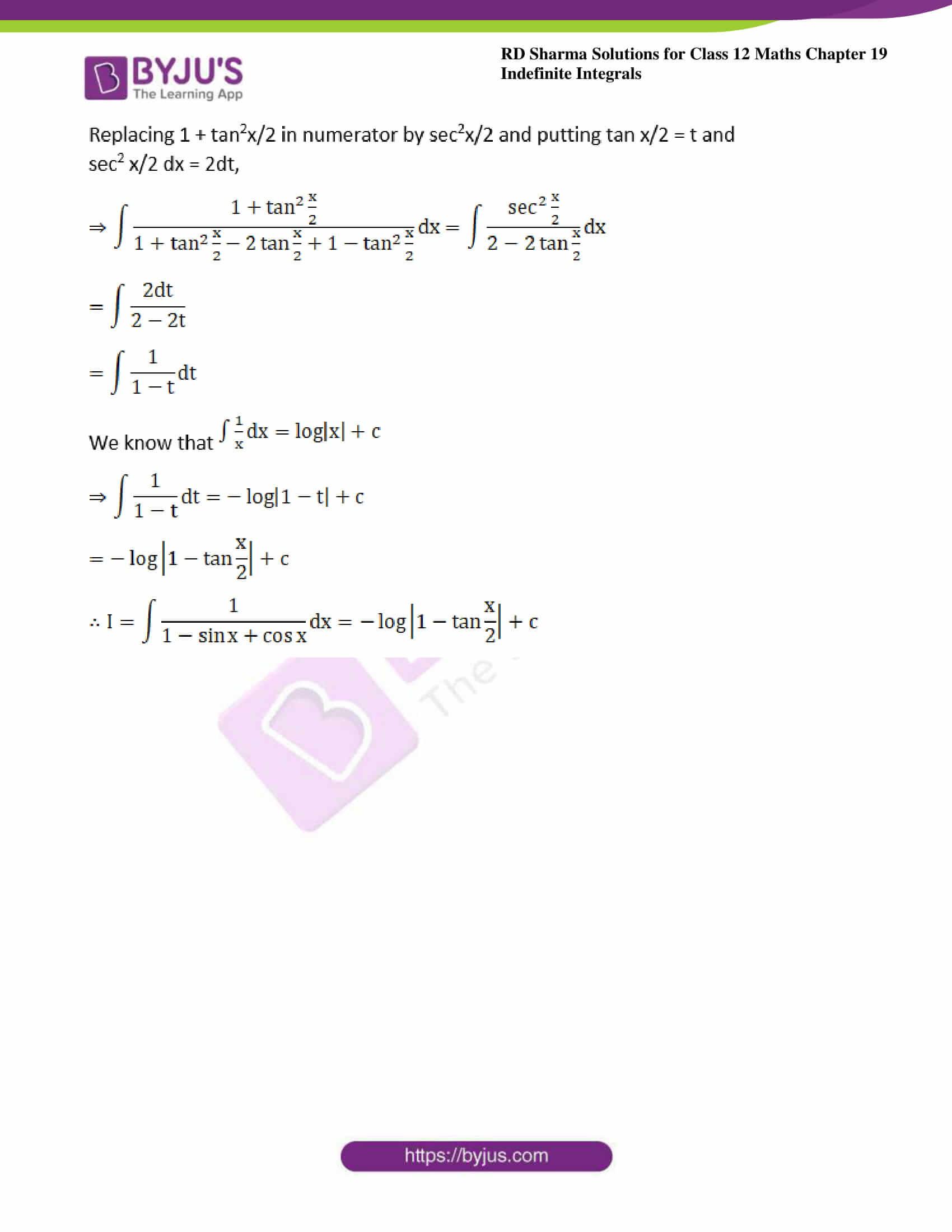 rd sharma class 12 maths sol chap 19 ex 23 6