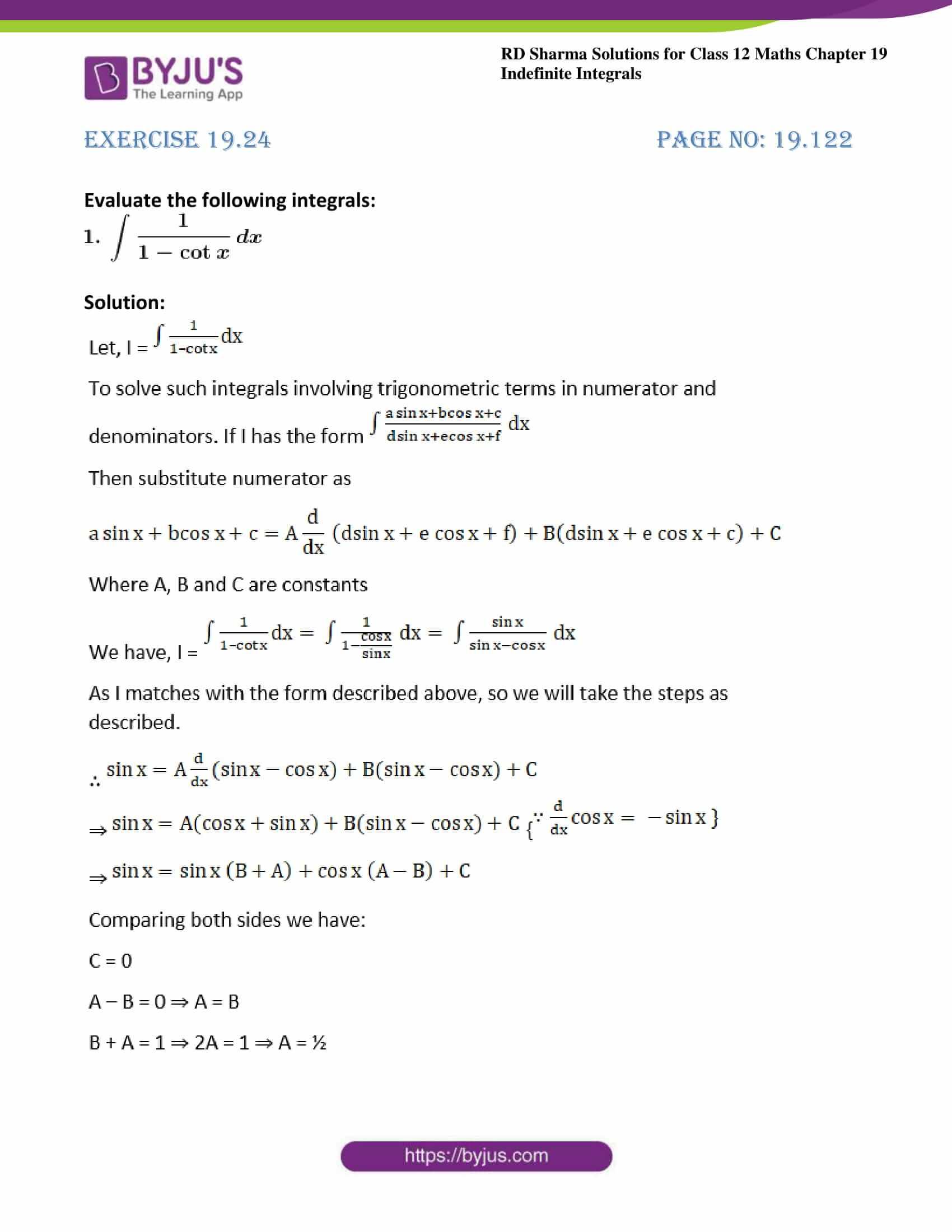 rd sharma class 12 maths sol chap 19 ex 24 01