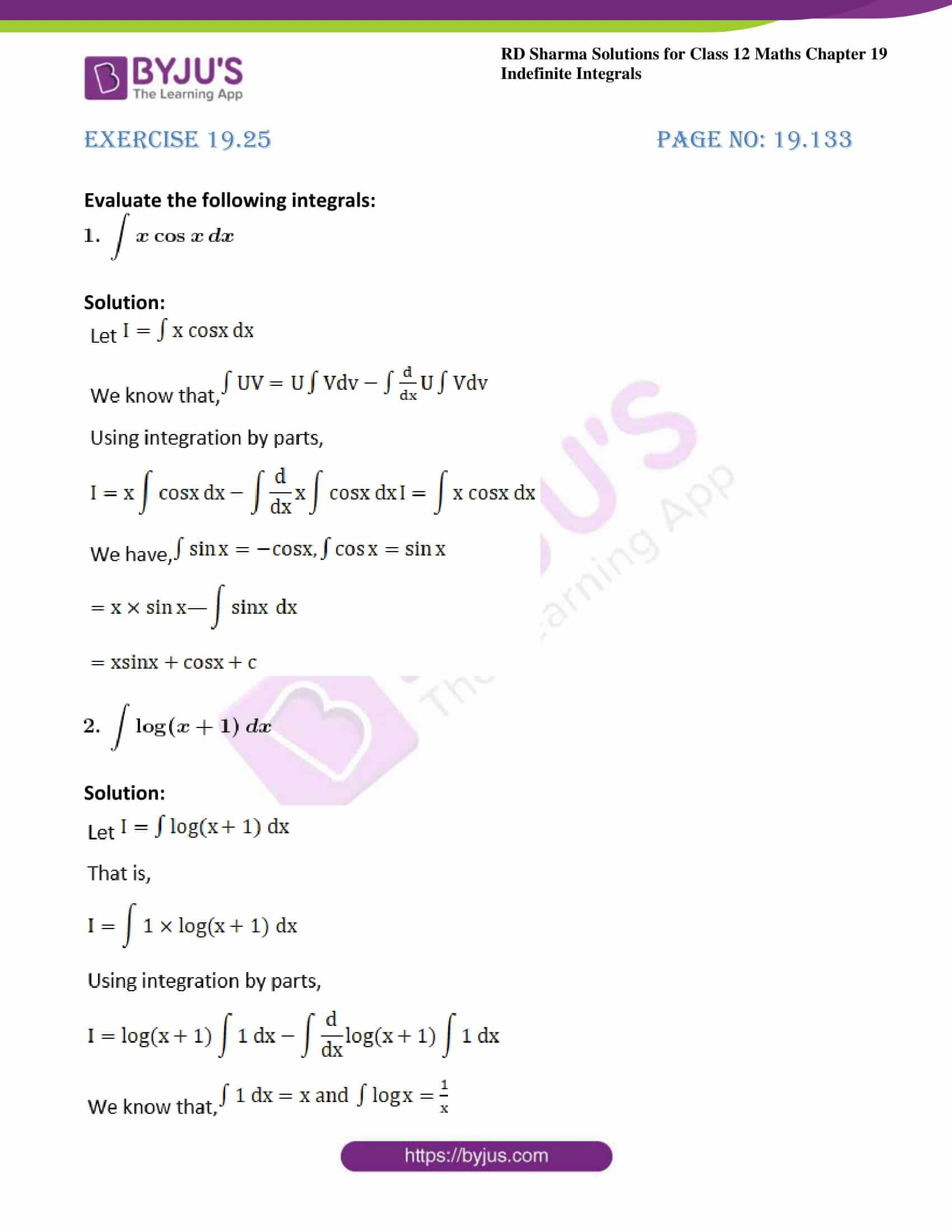 rd sharma class 12 maths sol chap 19 ex 25 1