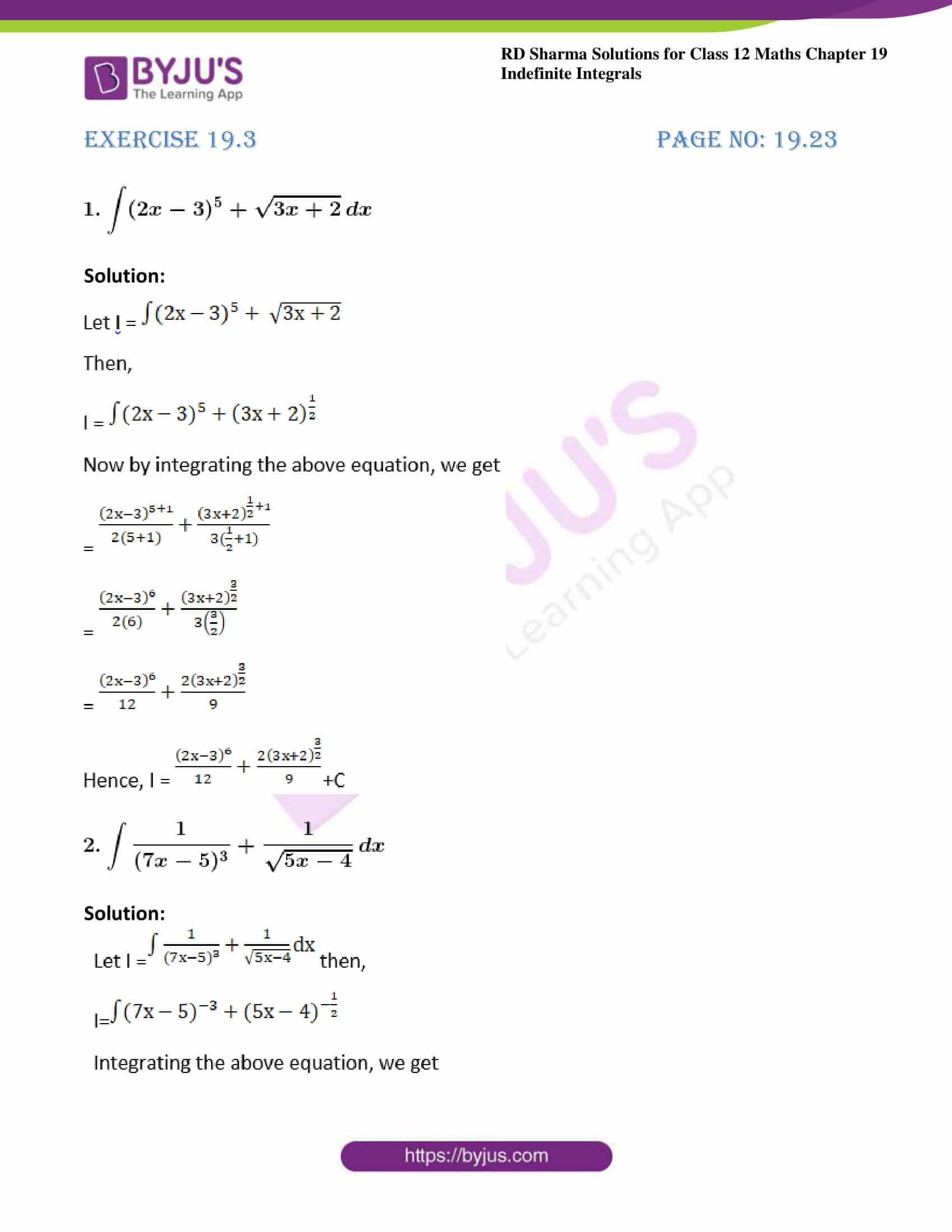 rd sharma class 12 maths sol chap 19 ex 3 1