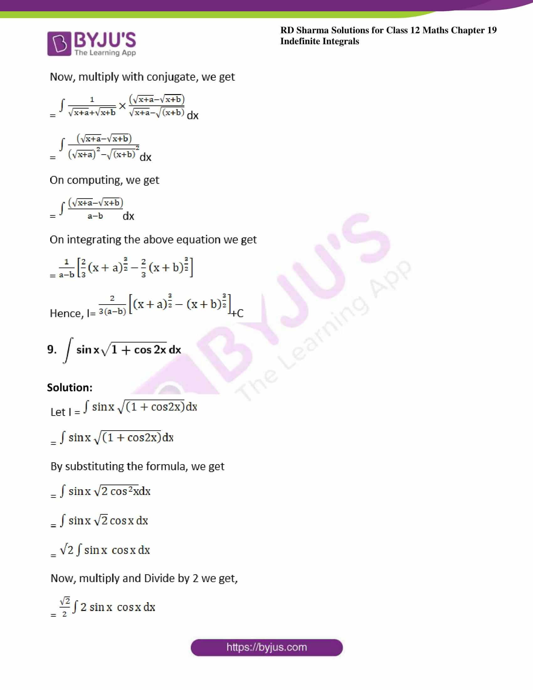 rd sharma class 12 maths sol chap 19 ex 3 6