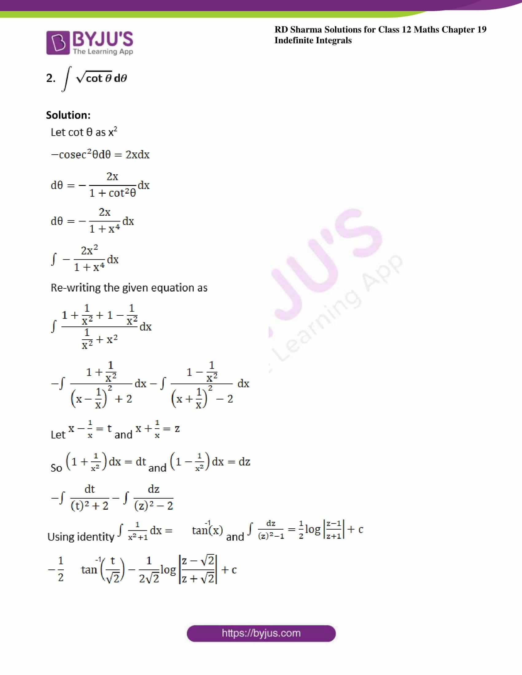 rd sharma class 12 maths sol chap 19 ex 31 2