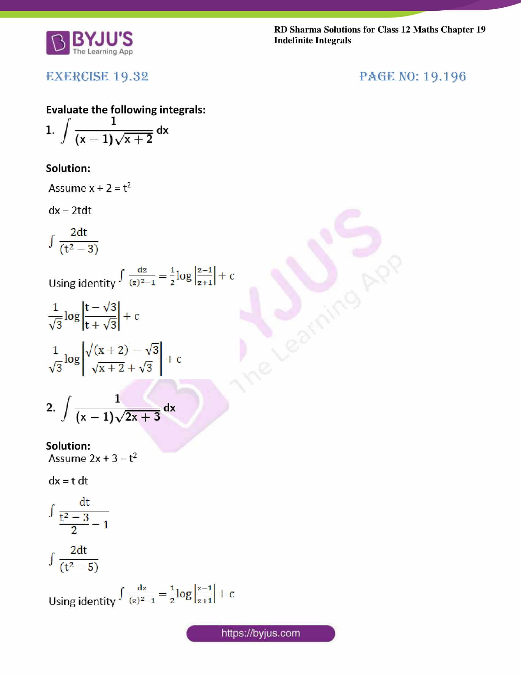 rd sharma class 12 maths sol chap 19 ex 32 1