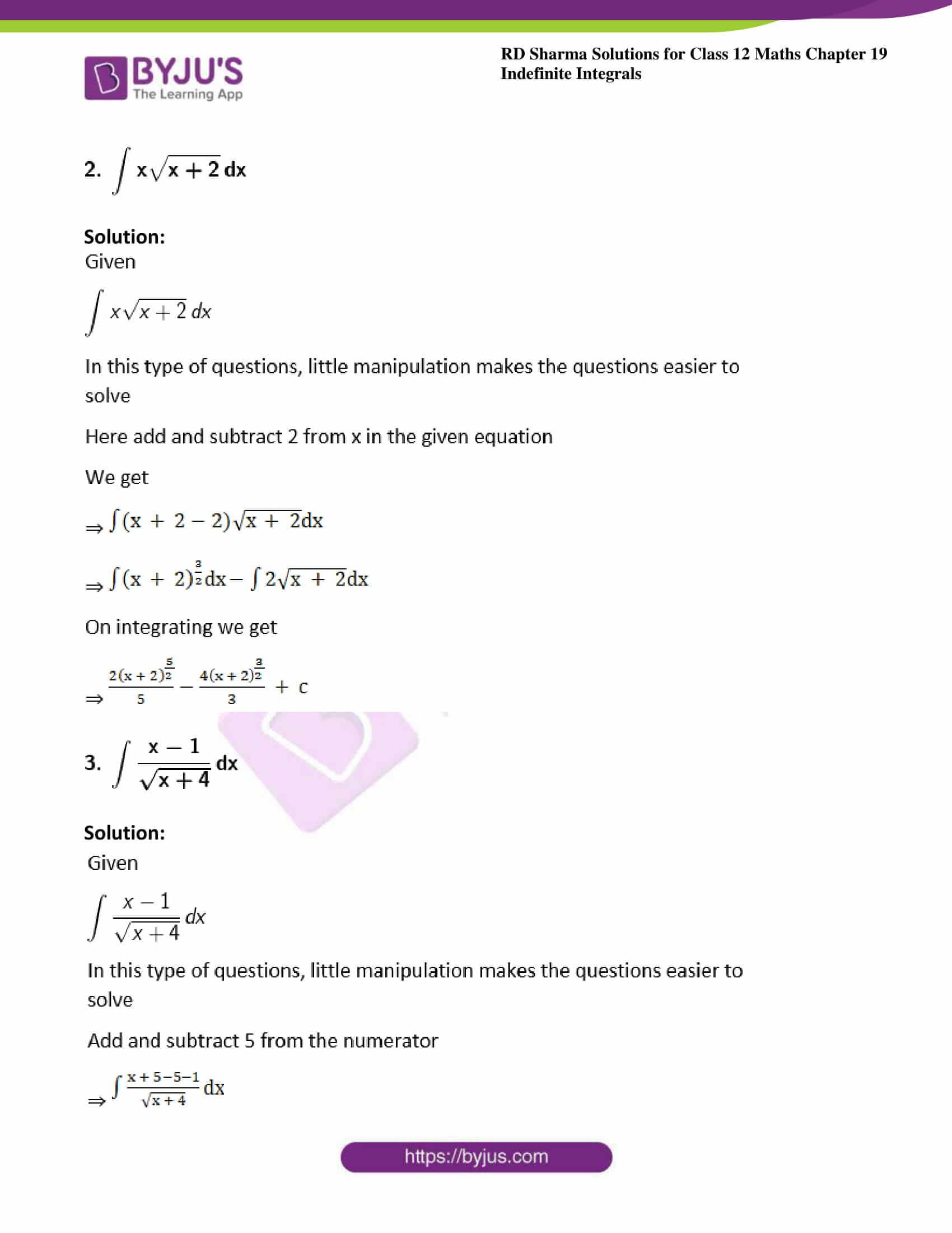 rd sharma class 12 maths sol chap 19 ex 5 2