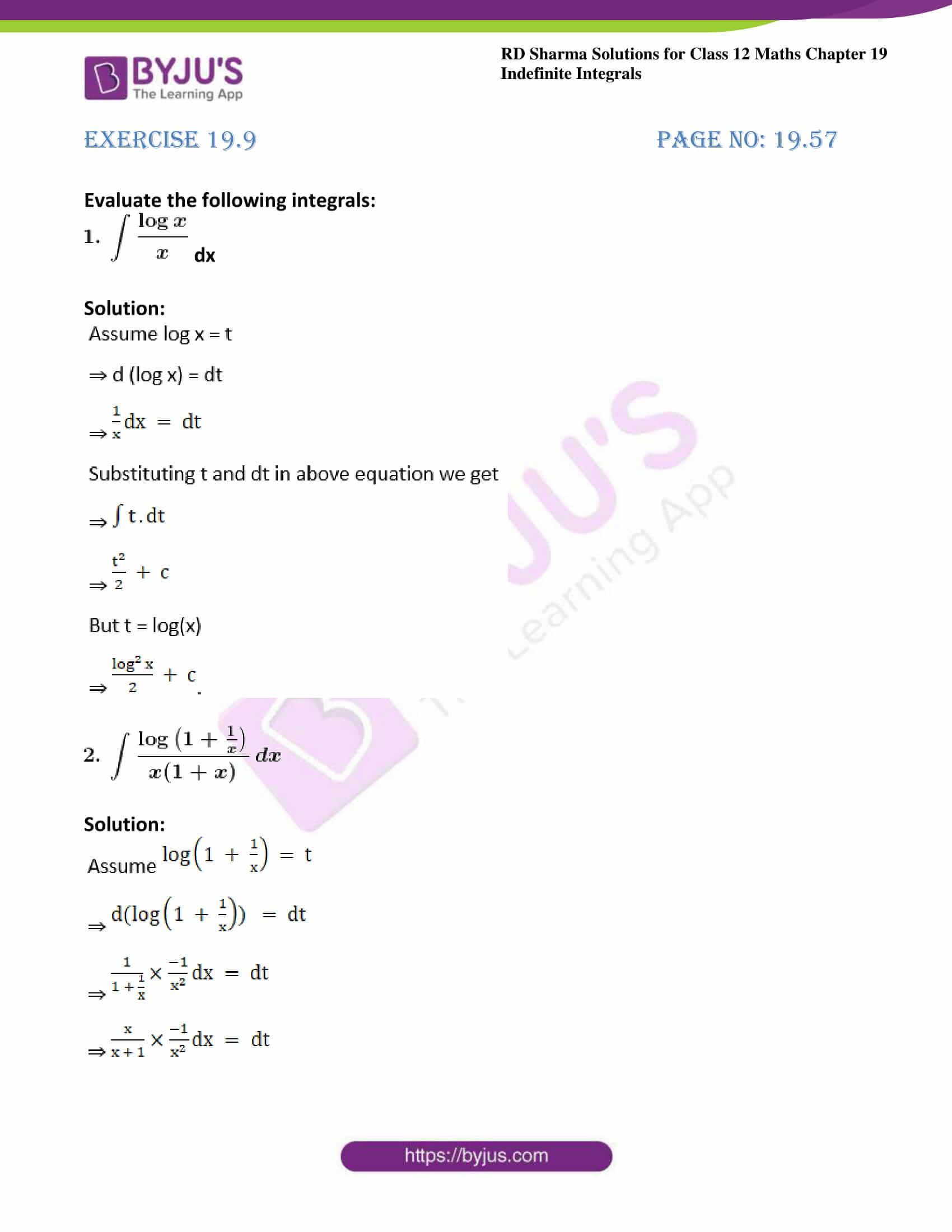 rd sharma class 12 maths sol chap 19 ex 9 1