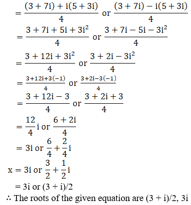 RD Sharma Solutions for Class 11 Maths Chapter 14 – Quadratic Equations image - 18