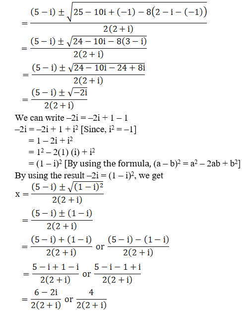 RD Sharma Solutions for Class 11 Maths Chapter 14 – Quadratic Equations image - 4