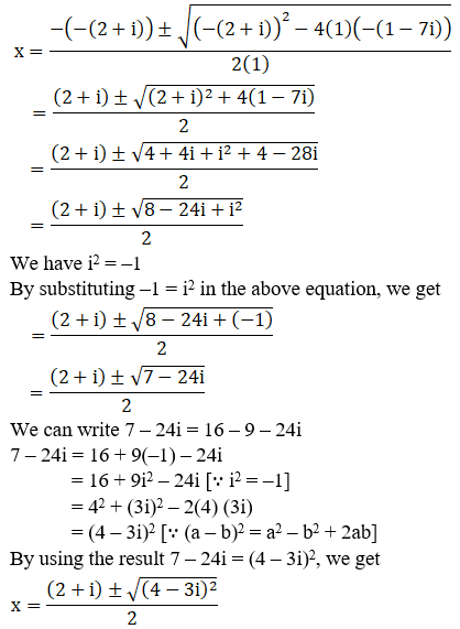 RD Sharma Solutions for Class 11 Maths Chapter 14 – Quadratic Equations image - 7