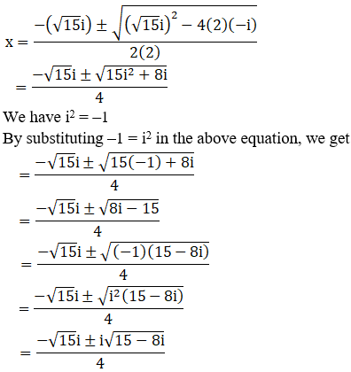 RD Sharma Solutions for Class 11 Maths Chapter 14 – Quadratic Equations image - 9