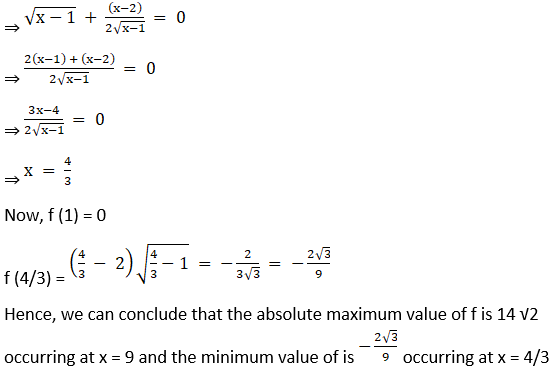 RD Sharma Solutions for Class 12 Maths Chapter 18 Maxima and Minima Image 13
