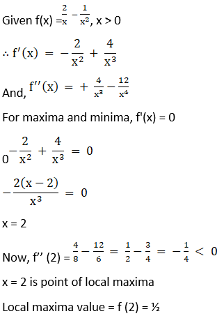RD Sharma Solutions for Class 12 Maths Chapter 18 Maxima and Minima Image 3