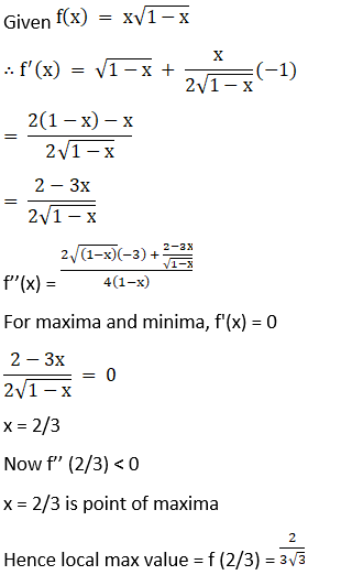 RD Sharma Solutions for Class 12 Maths Chapter 18 Maxima and Minima Image 6