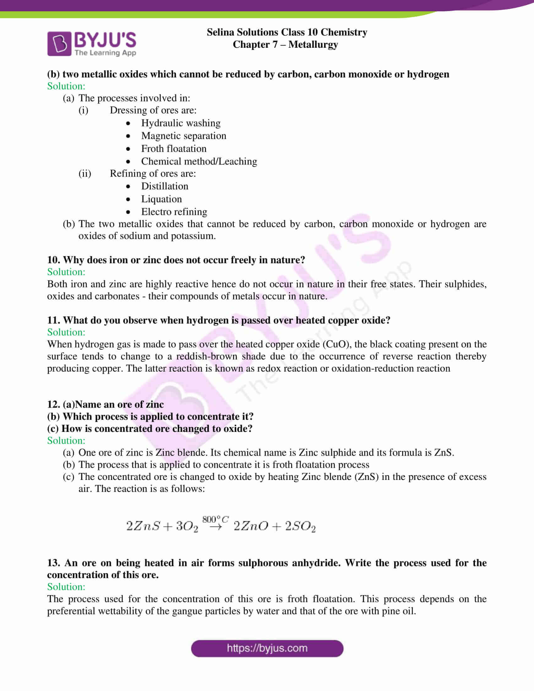 selina sol concise chem class 10 ch 7 3