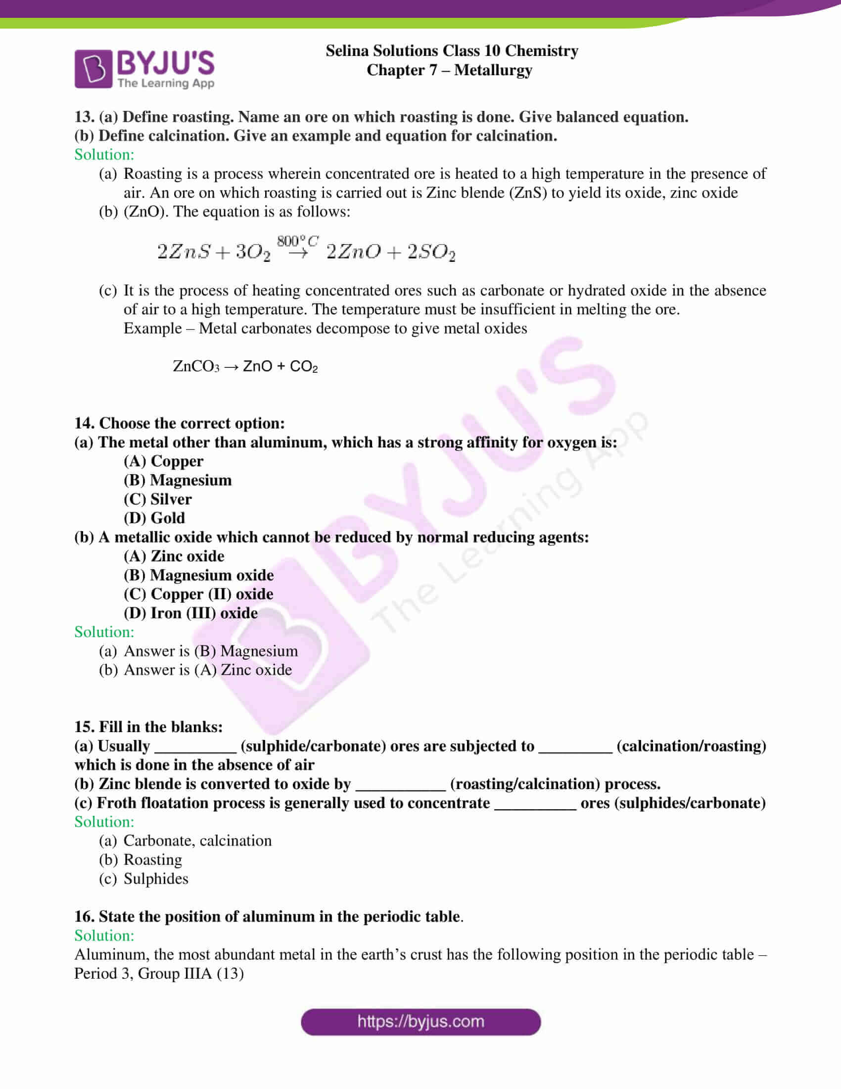 selina sol concise chem class 10 ch 7 4