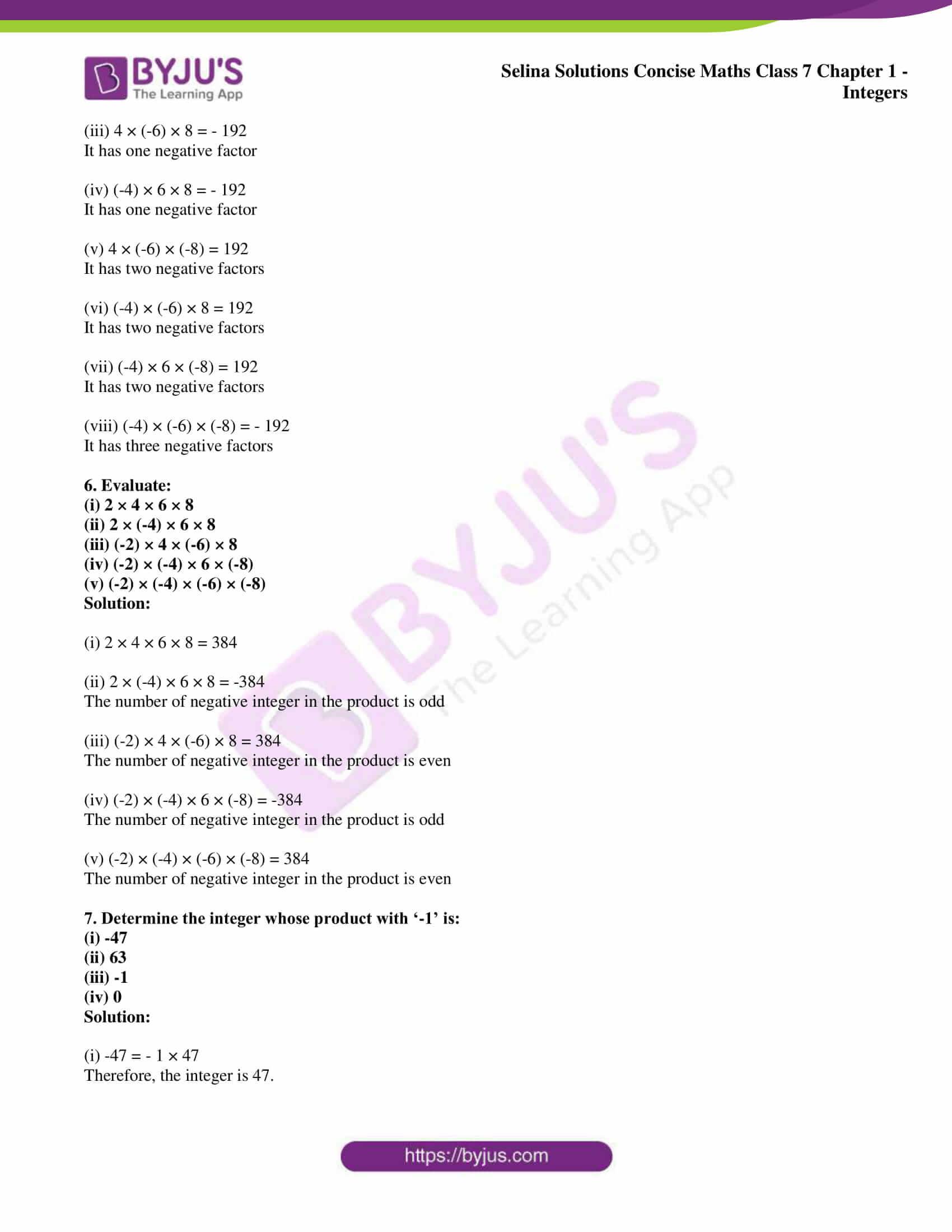 selina sol concise maths class 7 ch1 ex 1a 4