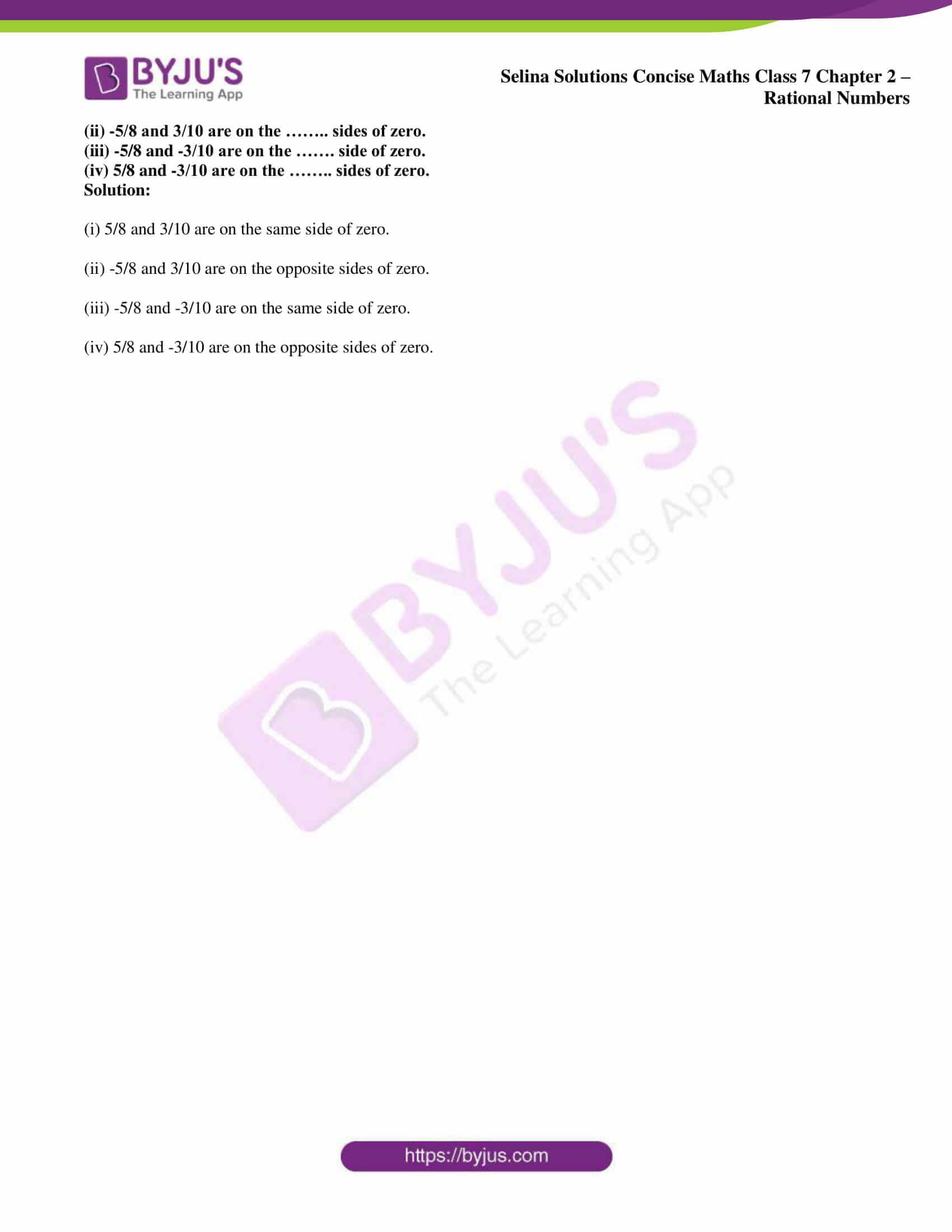selina sol concise maths class 7 ch2 ex 2b 6