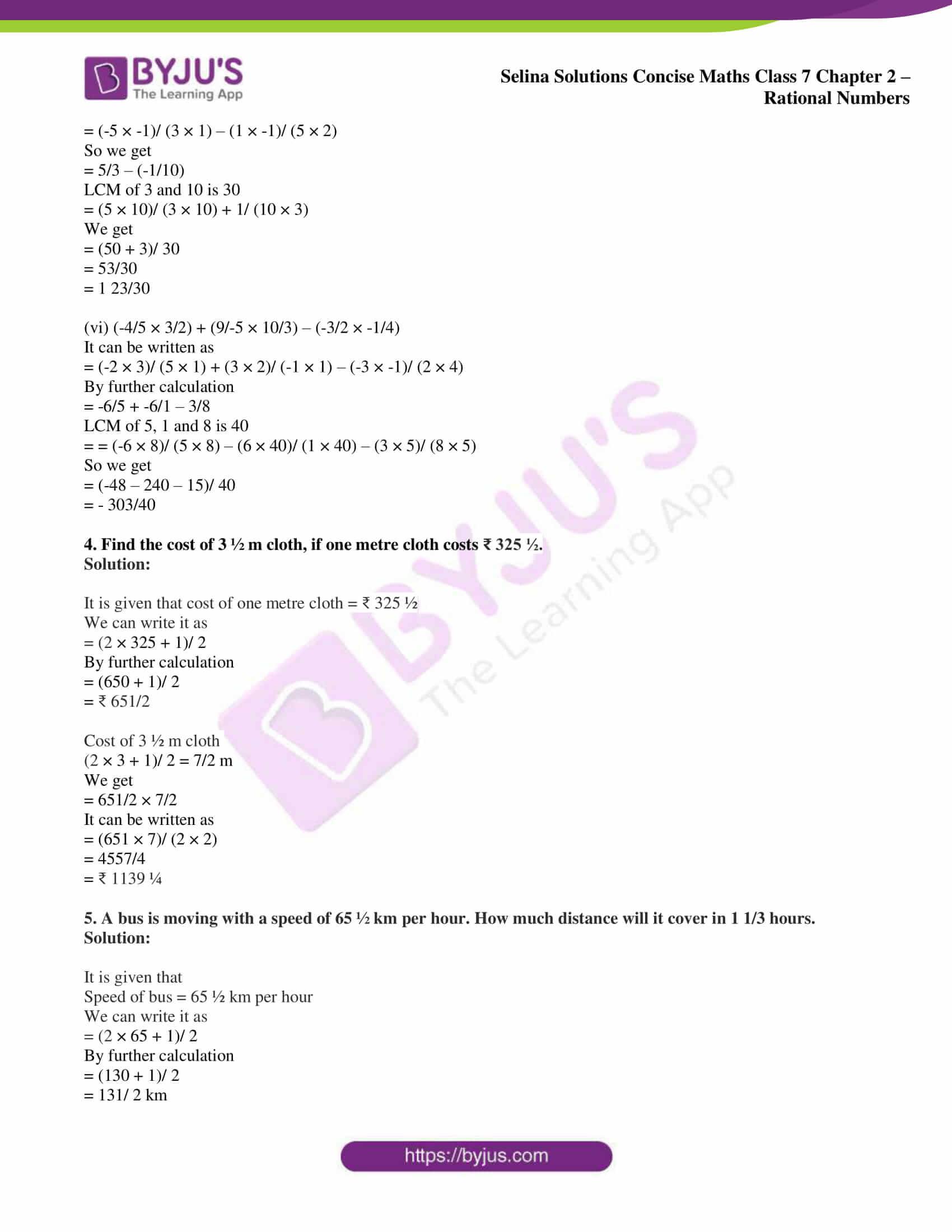selina sol concise maths class 7 ch2 ex 2d 06