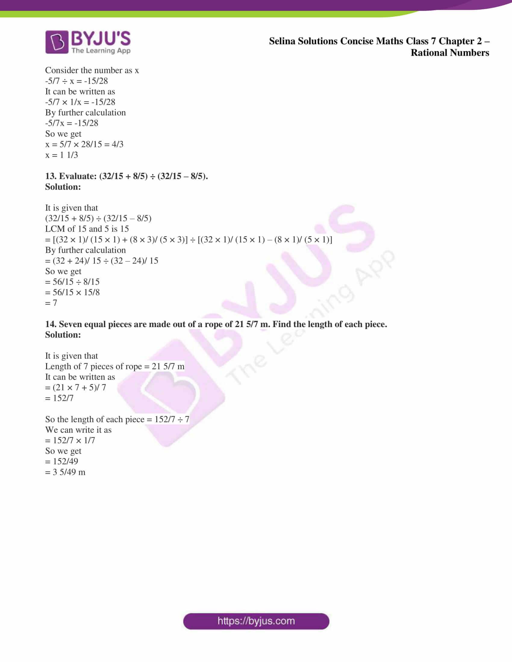 selina sol concise maths class 7 ch2 ex 2d 11