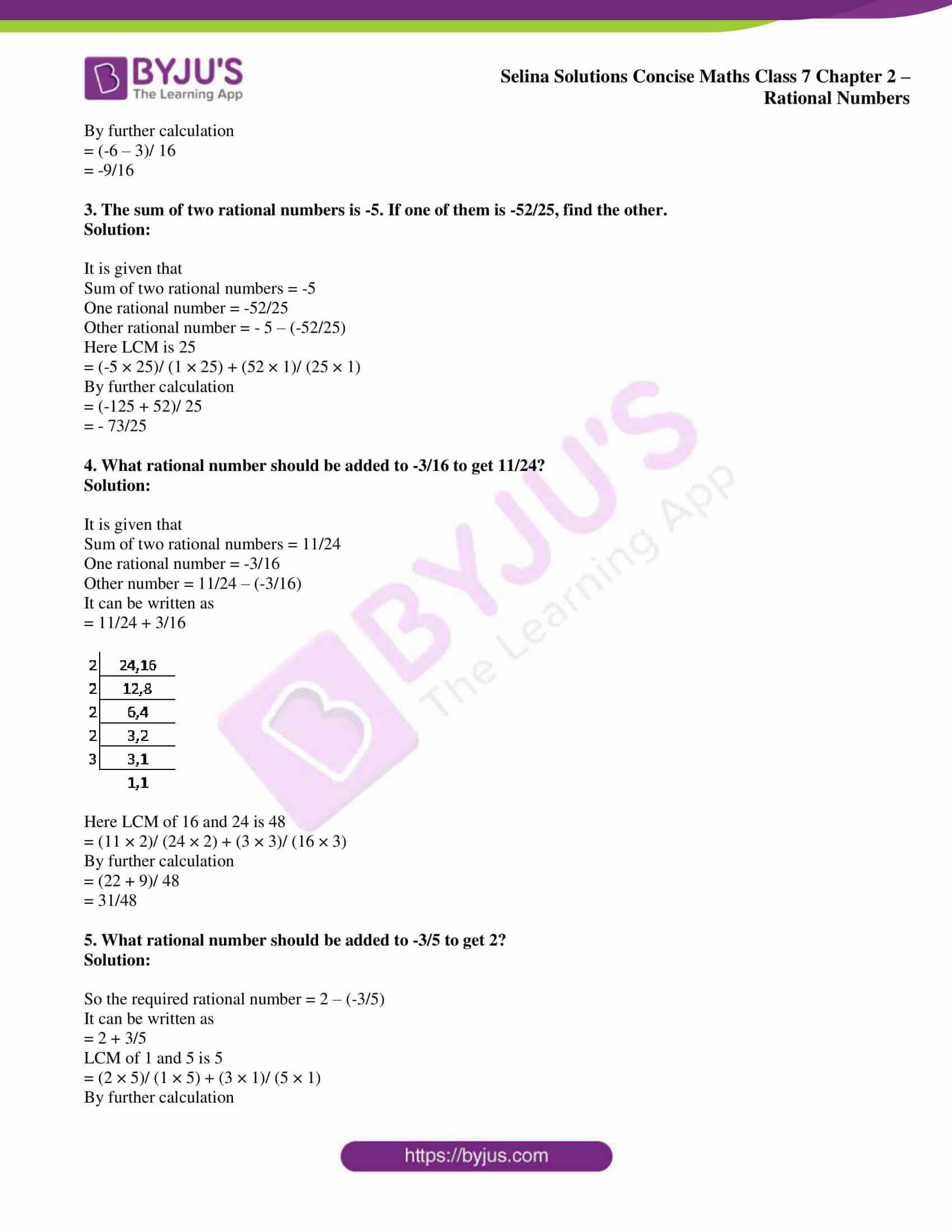 selina sol concise maths class 7 ch2 ex 2e 5
