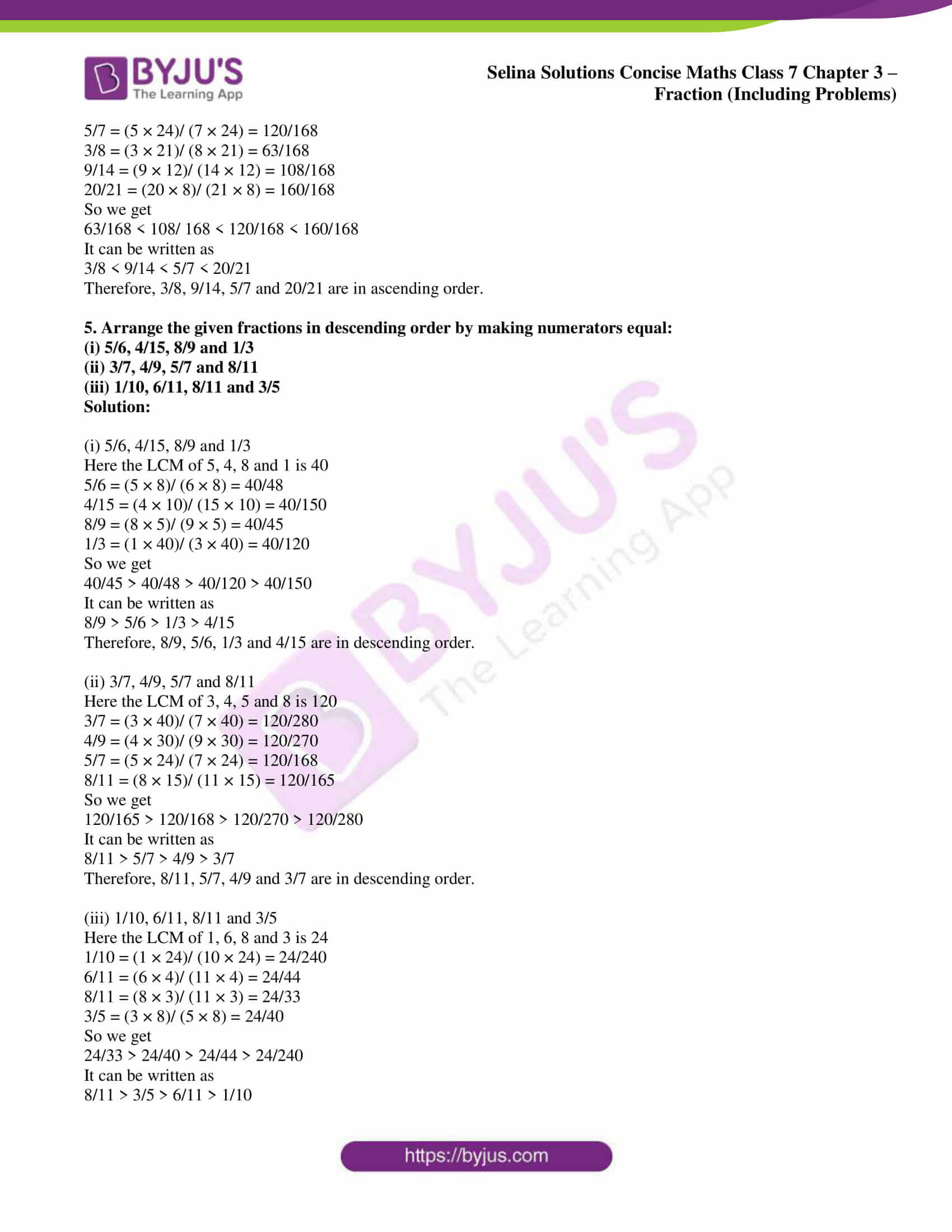 selina sol concise maths class 7 ch3 ex 3b 3