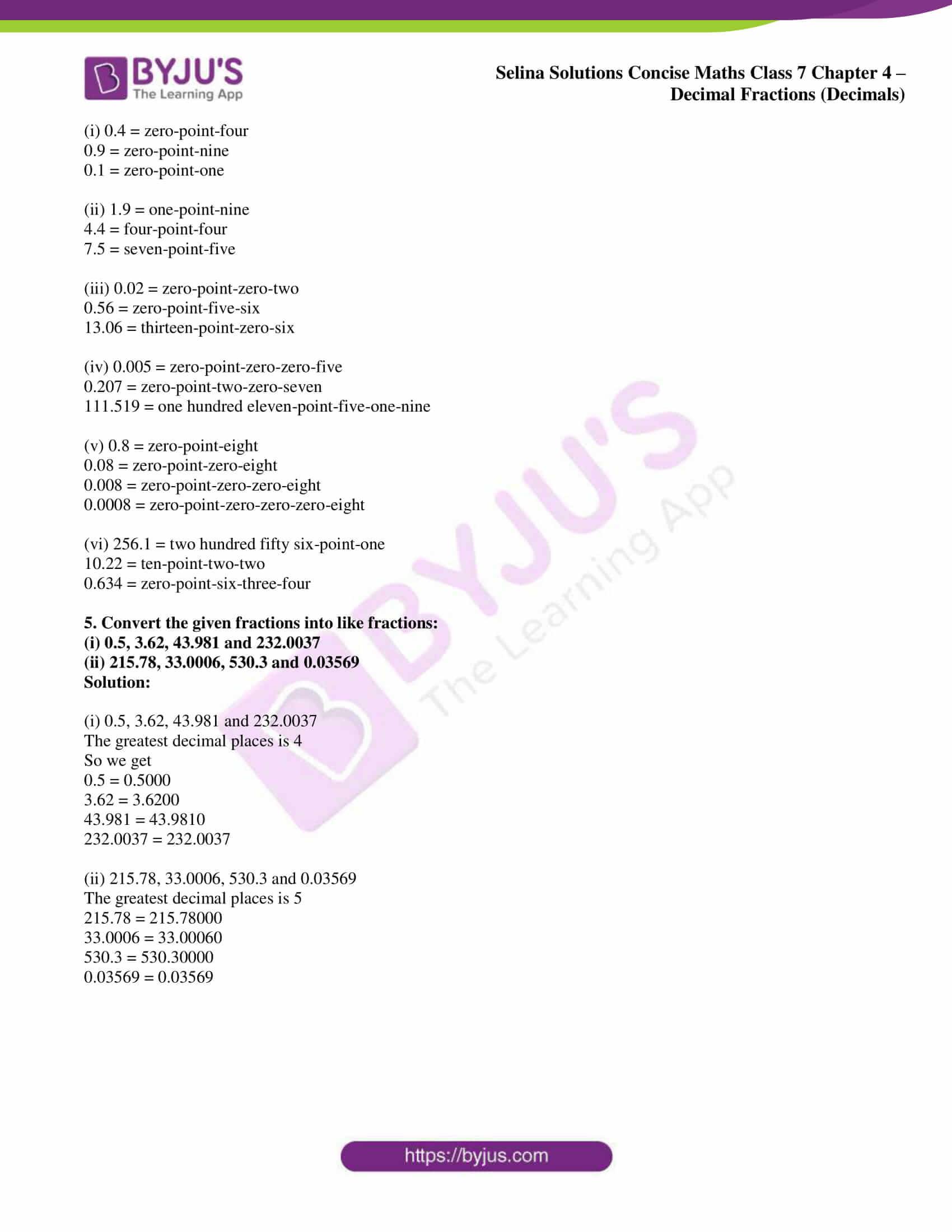 selina sol concise maths class 7 ch4 ex 4a 5