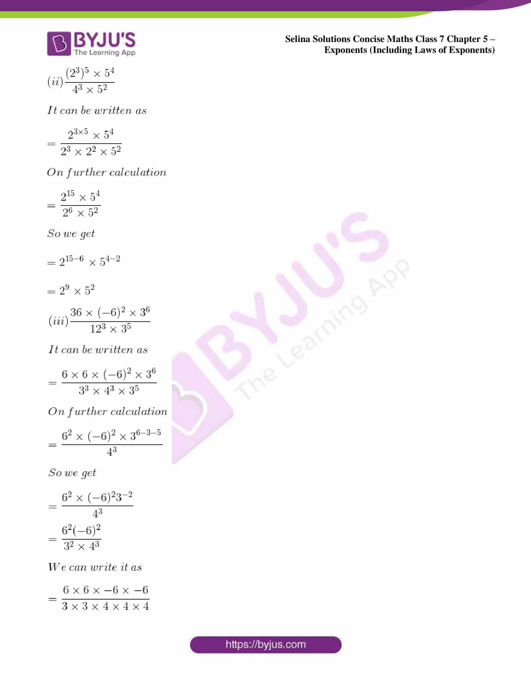 selina sol concise maths class 7 ch5 ex 5b 10