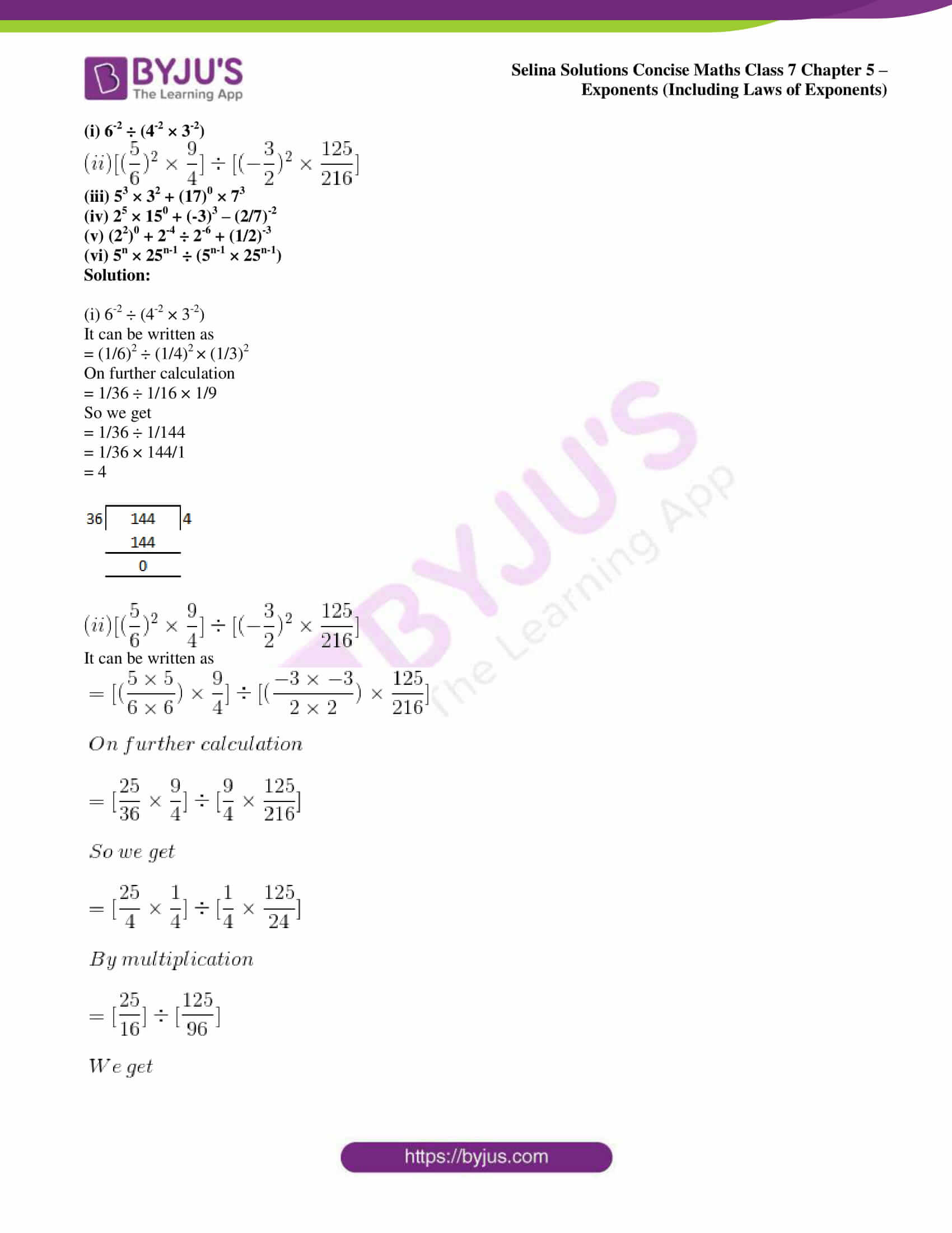 selina sol concise maths class 7 ch5 ex 5b 12