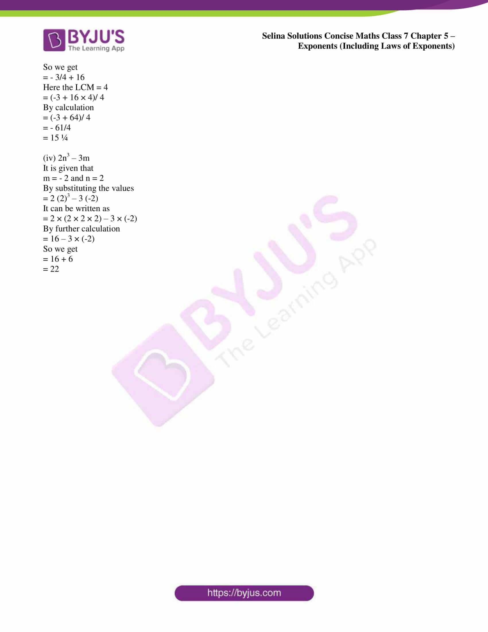 selina sol concise maths class 7 ch5 ex 5b 15