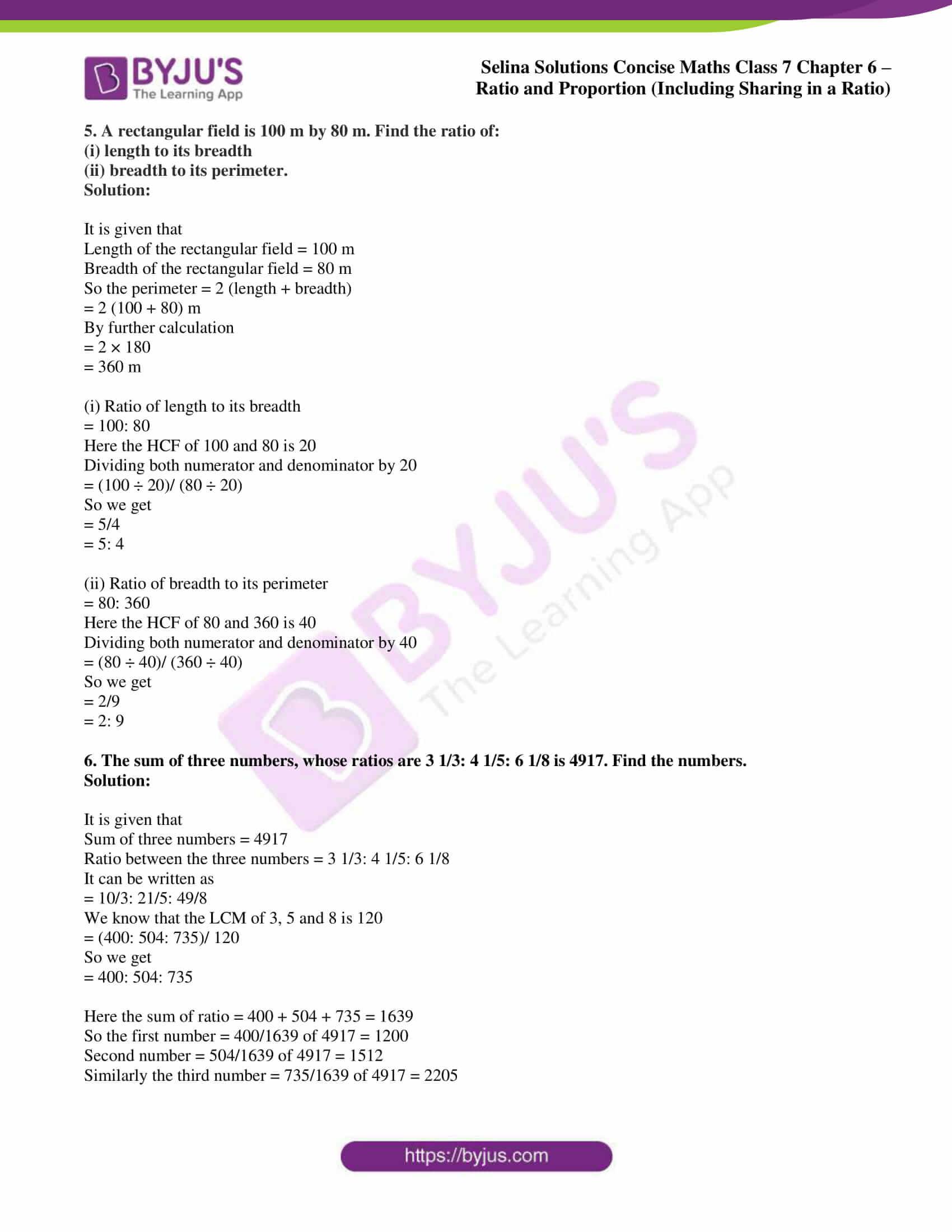 selina sol concise maths class 7 ch6 ex 6a 4