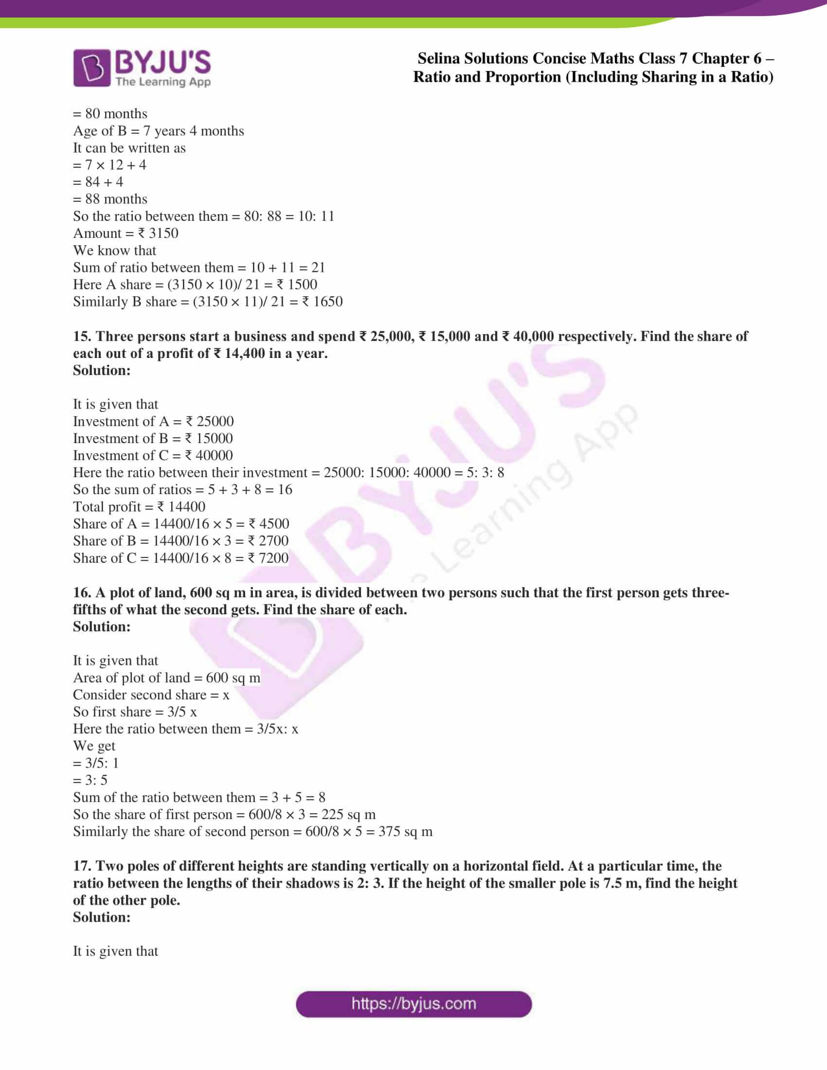selina sol concise maths class 7 ch6 ex 6a 7