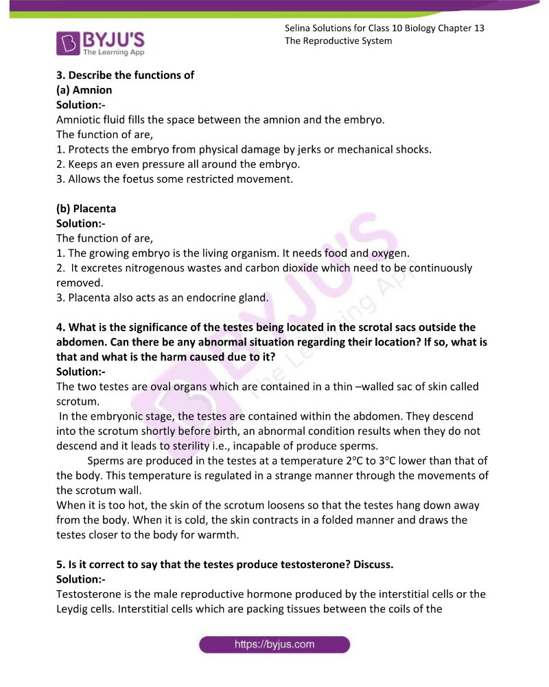 Selina Solutions For Class 10 Biology Chapter 13 The Reproductive System 13