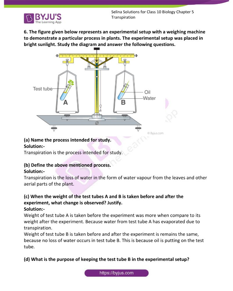 Selina Solutions For Class 10 Biology Chapter 5 Transpiration 16