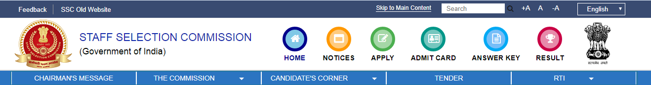 SSC CGL Answer Key - SSC Official Web page