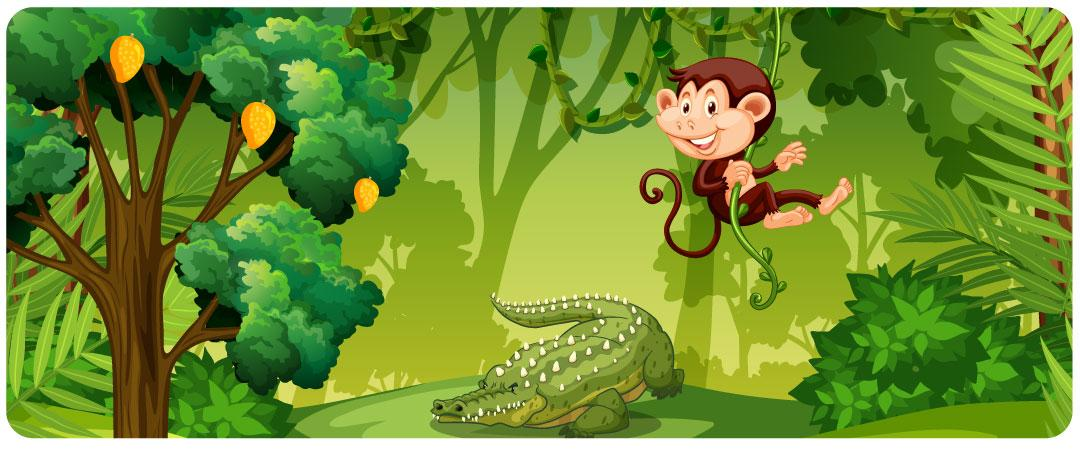 monkey and crocodile story