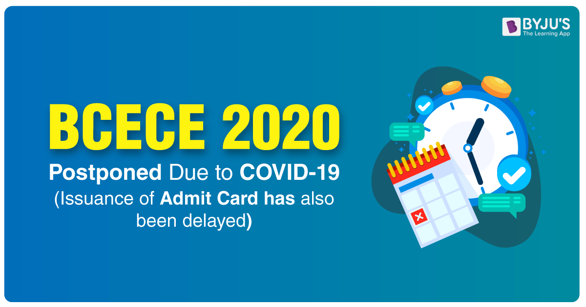 BCECE 2020 Postponed Due To COVID-19