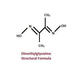 Dimethylglyoxime Structural Formula