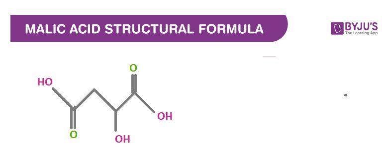 Malic Acid Structural Formula