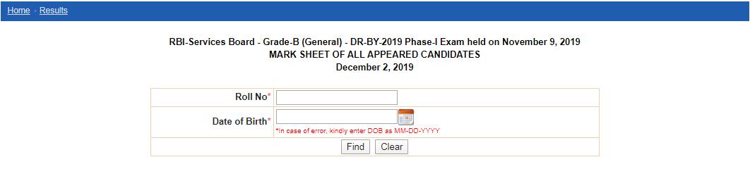 RBI Grade B Cut Off Phase I