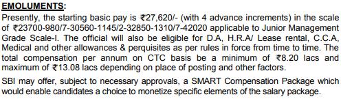 SBI PO Salary 2020