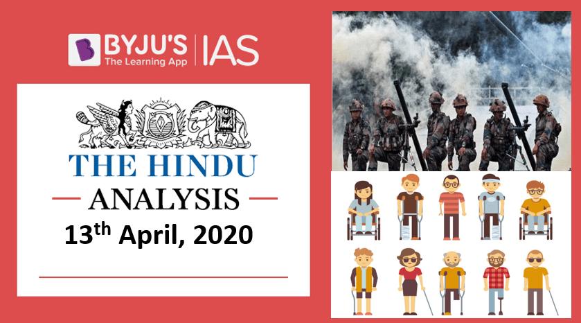 12 April 2020: The Hindu Analysis