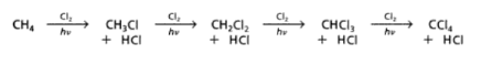 Chlorination of Methane by Substitution