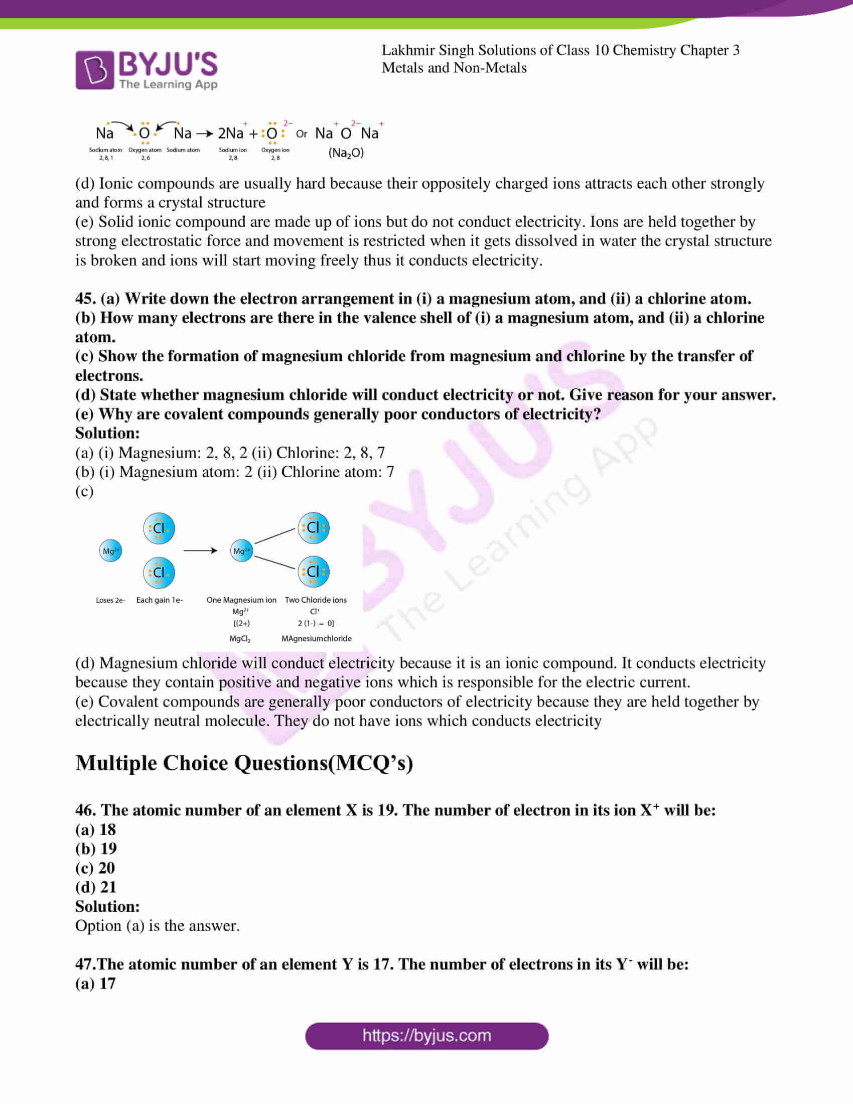 lakhmir singh chemistry class 10 solution for chapter 3 29