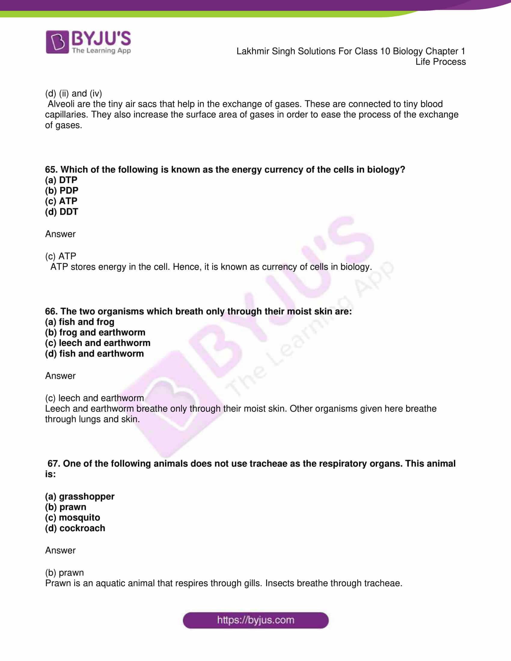 lakhmir singh sol class 10 biology chapter 1 52