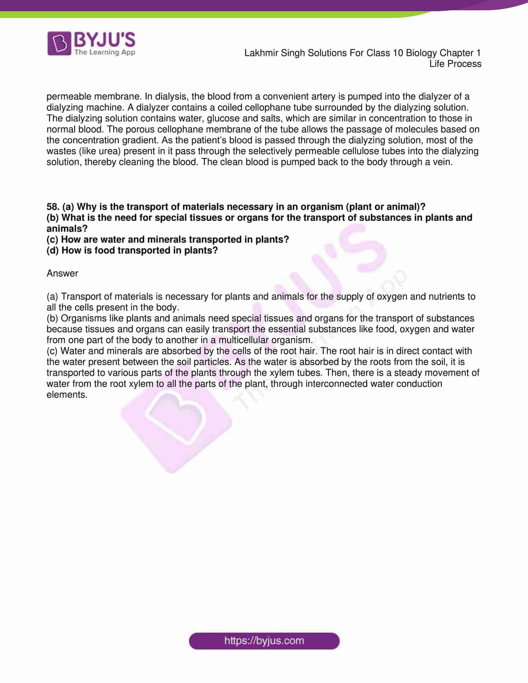 lakhmir singh sol class 10 biology chapter 1 79